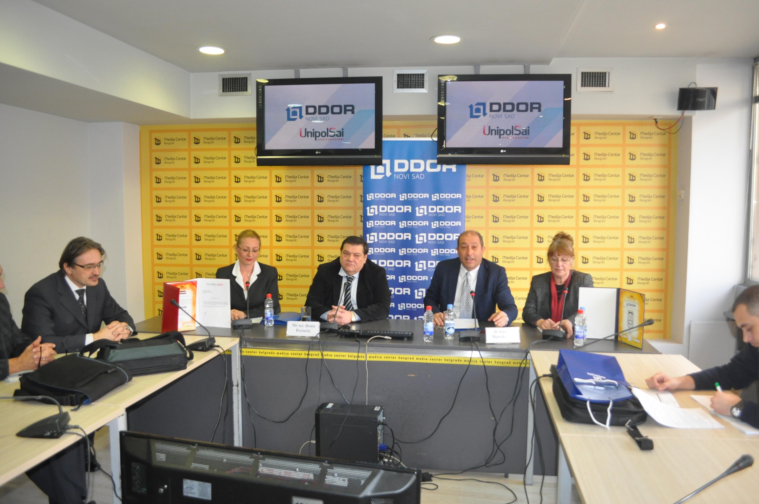 DDOR Novi Sad, Press konferencija, Medija centar, Beograd